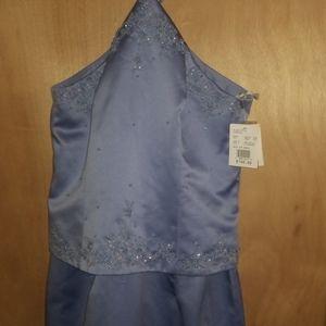 New David's Bridal  periwinkle bride maid dress